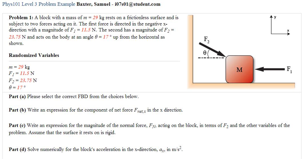 tutorial 5 homework fbd applications
